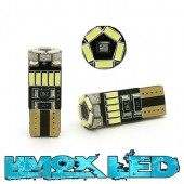LED Glassockel W5W 15x 3014 SMD Weiß T10