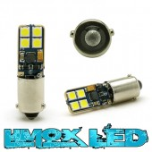 LED Metalsockel H6W Bax9s 8x 3030 SMD Weiß Canbus