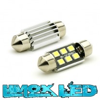 LED Soffitte C10W 41mm 6x 2835 SMD Weiß Canbus