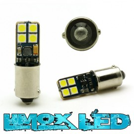 LED Metalsockel T4W Ba9s 8x 3030 SMD Weiß Canbus