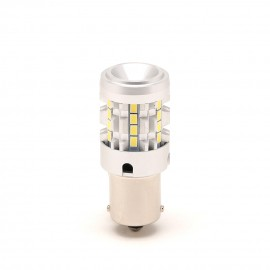 LED Metalsockel P21W Ba15s 26x 3030 SMD Weiß 100 % Canbus Inside