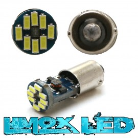 LED Metalsockel T4W Ba9s 12x 3014 SMD Weiß Canbus