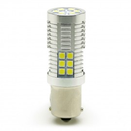 LED Metalsockel P21W Ba15s 30x3030 SMD Weiß 100 % Canbus Inside