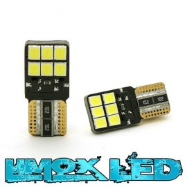 LED Glassockel W5W 12x 2835 SMD Weiß T10