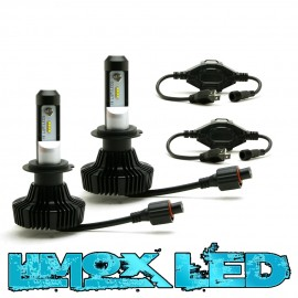 Premium LED Headlight SET Scheinwerferlampen H4 Weiß